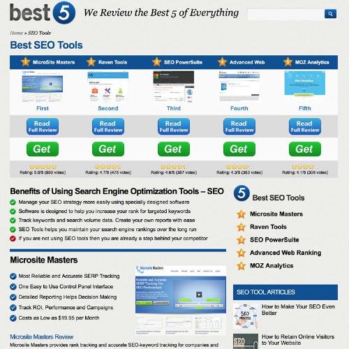 Best-5 SEO Tools Logo